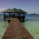 Pulau pelangi - jembatan saung