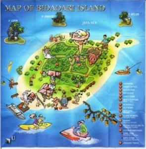 Pulau Bidadari - peta