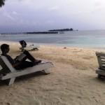 Pulau bidadari - pantai view