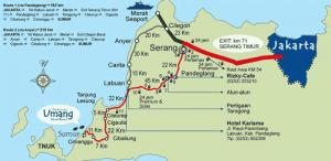 pulau umang - route