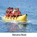 Pulau pelangi - banana boat