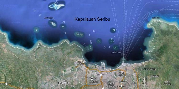lokasi pulau seribu